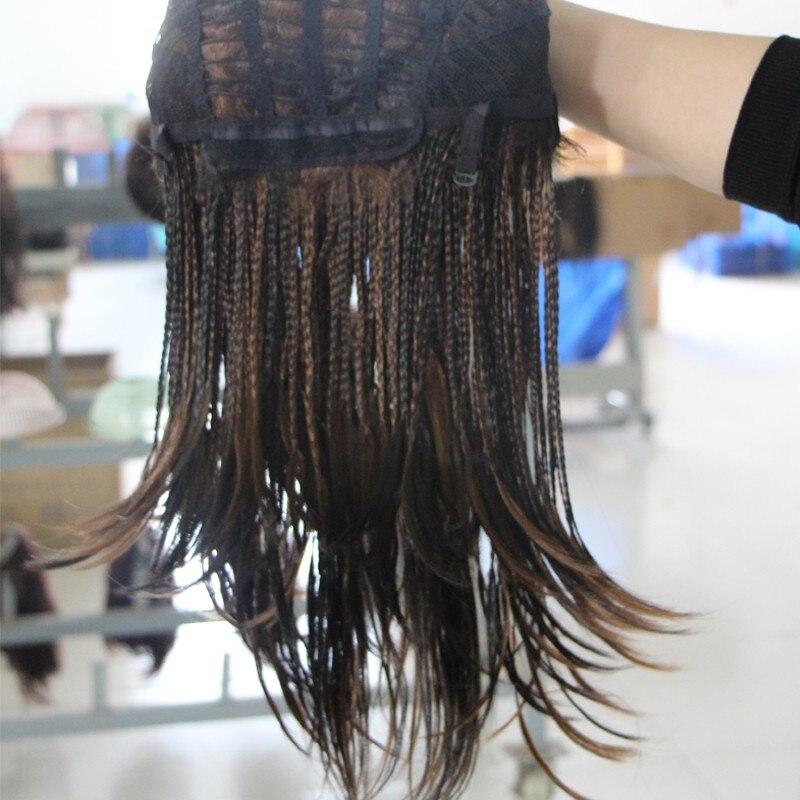 Feibin Box Crochet Braiding Hair Wig Afrikansk Syntetisk Senegalese - Syntetiskt hår - Foto 5