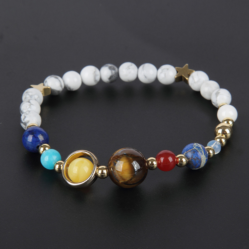 Us 2 0 Boeycjr White Marble Universe Planets Bangles Bracelets Fashion Jewelry Galaxy Solar System Bracelet For Women Or Men 2019 In Charm