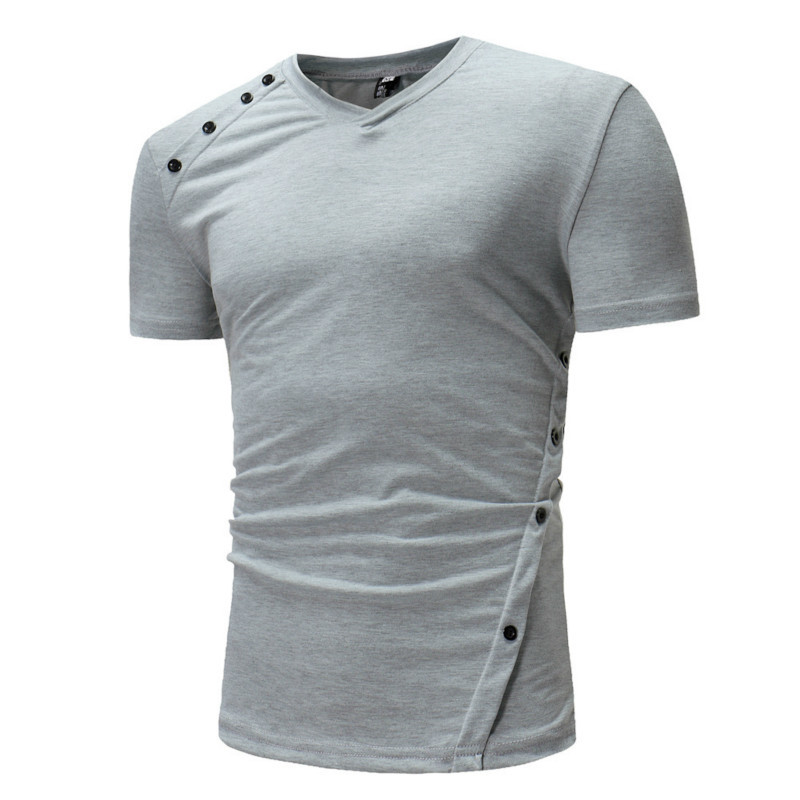 Summer new men's short sleeved T-shirt Slim V-neck fashion mens clothing t shirts casual brand men 3 colour
