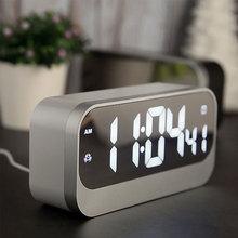 Large LED Display Alarm Clock Night Light Digital Alarm Clock Time Calendar Date Display Night Light Table Clock Home Decoration