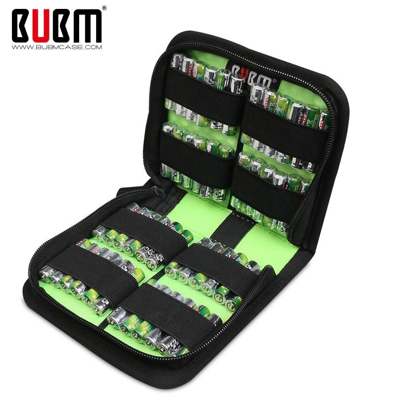 กระเป๋า BUBM สำหรับเคสแบตเตอรี aaa 9 โวลต์ AA AAA N3 3A 2A แบตเตอรีกันน้ำป้องกันแบตเตอรี่กระเป๋าเดินทางกล่องใส่