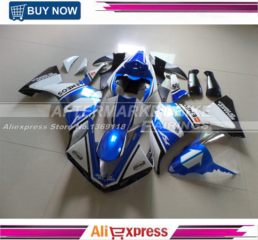 Injection Mold Fairing kit for YZFR1 09 10 YZF R1 2009 2010 YZF1000 ENEOS BLUE Motorcycle Fairings set vehicle plastic accessory injection mold china makers