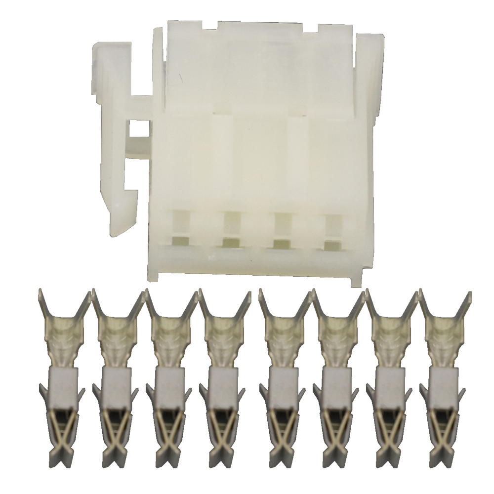 8 Pin jacket 927365 1 Automotive Connectors White rectangular Automotive Connectors With Terminal DJ7083 3 5 21 8P in Connectors from Lights Lighting
