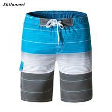 Poliéster Capri Calças Dos Homens Praia Shorts 2018 Homens Da Moda Casual  Cintura Elástica Calças Curtas Bottoms Masculinos Seca. c54ffd11af3ff