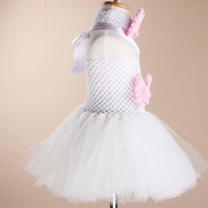 Toddler Girls Fancy Princess Tutu Dress Holiday Flower Double Layers Fluffy Baby Dress with Headband Photo Props TS044 16