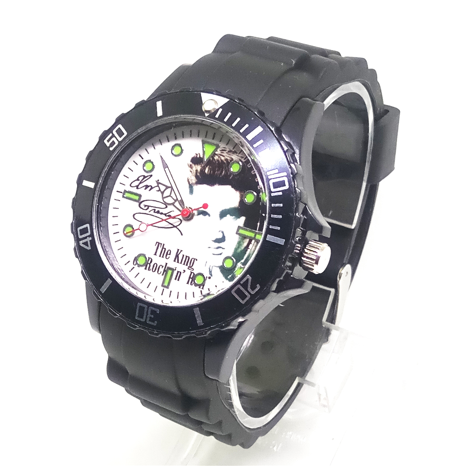 New Elvis Presley Beatles Cartoon Watch Men Watches Black Silicone Strap Kids Wristwatch Children Clock for Girls Boys Students joyrox minions pattern children watch 2017 hot despicable me cartoon leather strap quartz wristwatch boys girls kids clock