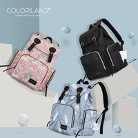 COLORLAND Multi function Mommy Bags Diaper Bag Mummy Backpacks Nappy Bags Waterproof Fashion And Durable Large Capacity