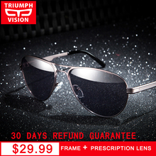 ea0bdc5ccc TRIUMPH VISION Prescription Driving Myopia Sunglasses for Men Pilot Sun  Glasses Male Metal Shades Diopter Eyeglasses