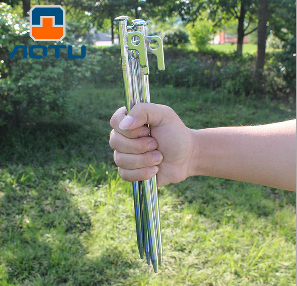 4pcs AOTU AT6541 30cm High strength Iron Tent Nail Tent Stakes C&ing Equipment Tent Peg Sand Snow Tent Building-in Tent Accessories from Sports ... & 4pcs AOTU AT6541 30cm High strength Iron Tent Nail Tent Stakes ...