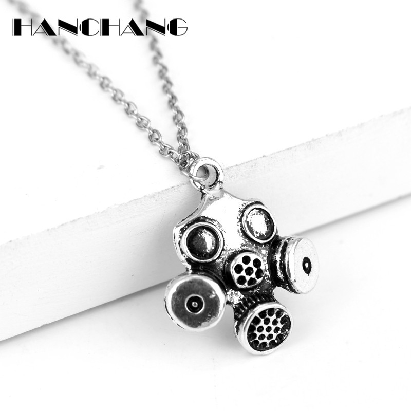 HANCHANG Accessories Doctor Who TV Jewelry Gas Masks Pendants Necklaces Man Women Choker Necklace Collier