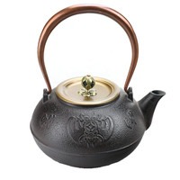1L New Cast Iron Teapot Church Kettle Japanese Kung Fu Tea Pot Drinkware