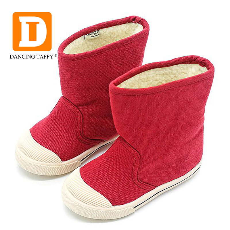 Winter Toddler Boots  2019 New Girls Boys Plush Boots Kid Brand Slip On Warm Pink Children Fashion Black Snow Booties Boats