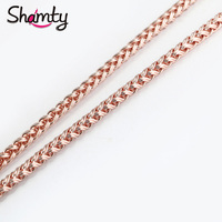 Mens Chain Rose Yellow Gold Filled Necklace Womens Wholesale Customized Necklace