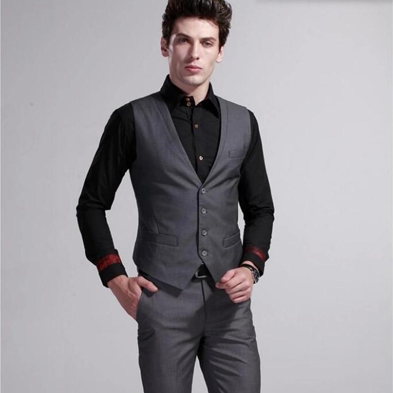 The latest men suits vest fashion handsome men wedding ...