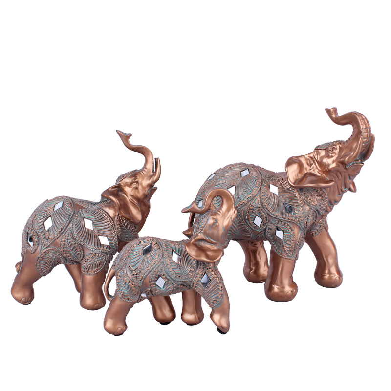 Animal Elephant Pattern Wooden Nesting Doll Ornaments Figurines Toy DIY Crafts