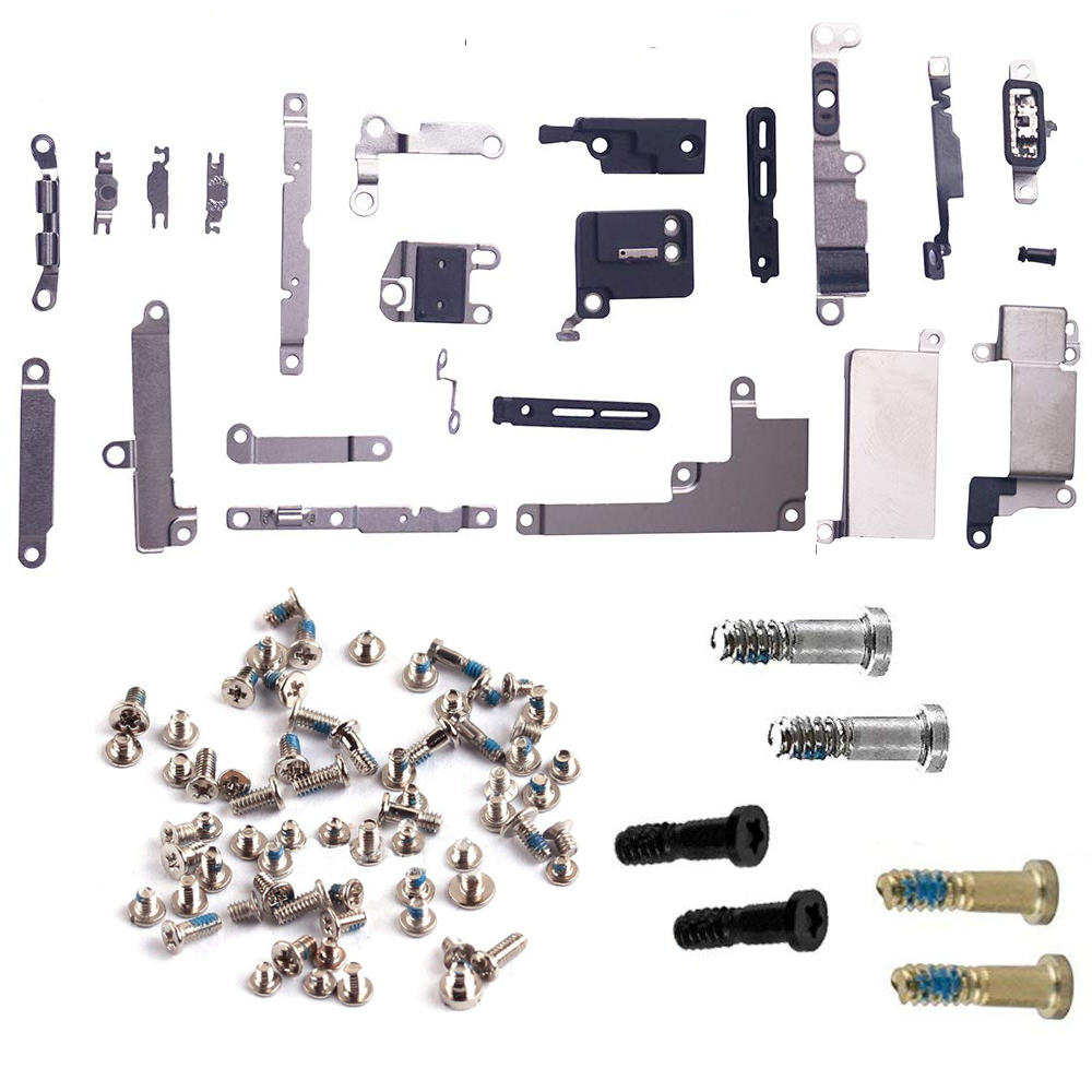 For IPhone 7 7 Plus 8 8 Plus Full Set Small Metal Internal Bracket Shield Plate Kit Full Screw Set With Bottom Screws