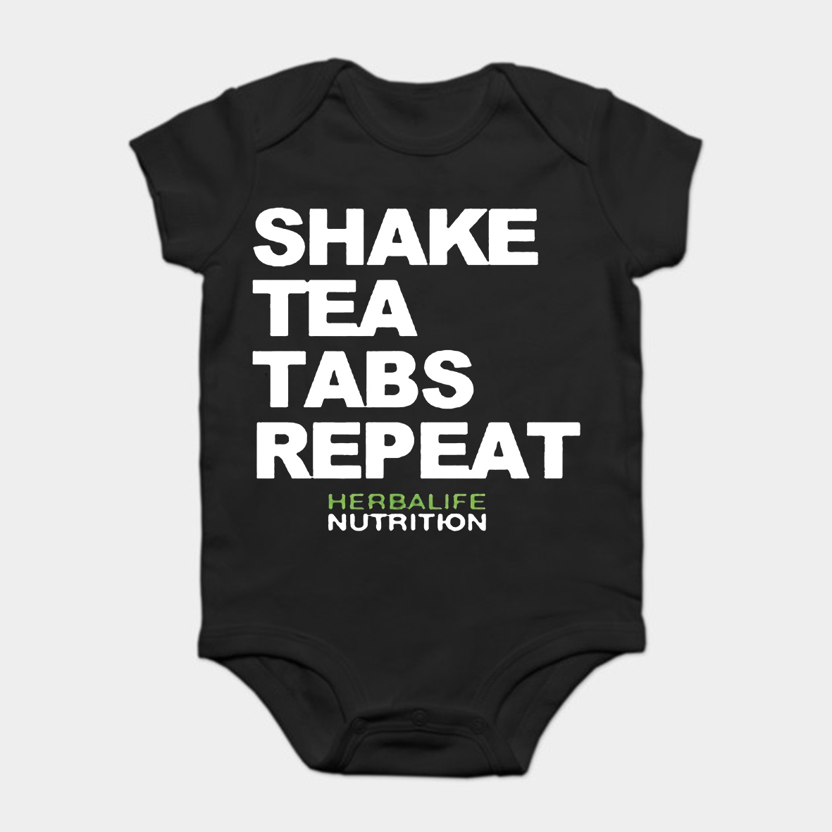 US $10 79 10% OFF|Baby Onesie Baby Bodysuits kid t shirt Details About  Herbalife Nutrition Shake Tea Tabs Repeat Black Male-in Bodysuits from  Mother &