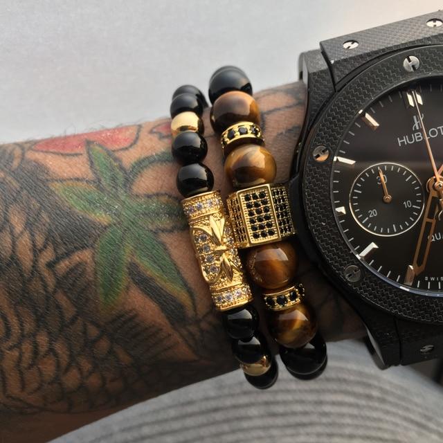 Bracelet Agate Homme