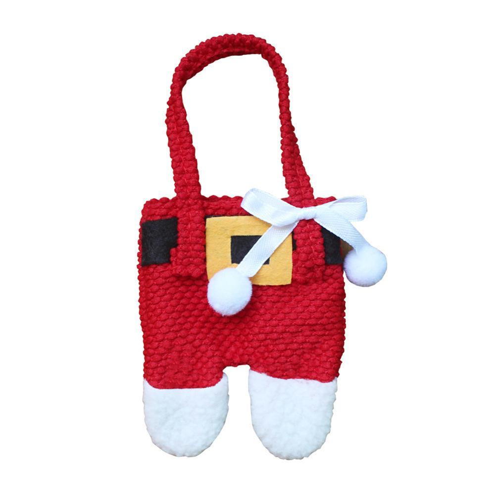Шляпа Санты, олень, Рождество, Год, карманная вилка, нож, столовые приборы, держатель, сумка для дома, вечерние украшения стола, ужина, столовые приборы 62253 - Цвет: H9