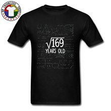 Geometric Maths Formula T Shirts  Square Root of 169 13th Birthday Years Old Mens New Tops Shirt University Programming Solve