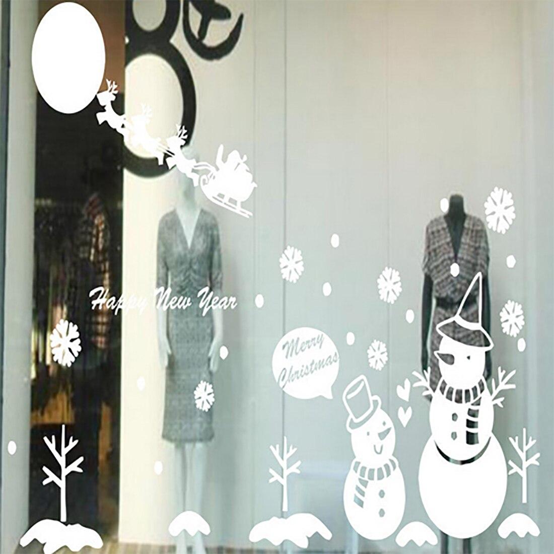 gran ao nuevo copo de nieve rbol de navidad pegatinas de pared de navidad decal ventanas