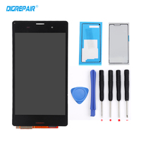5 0 White Black For Sony Xperia Z3 D6603 D6643 D6653 LCD Display Touch Screen Glass