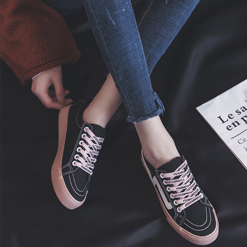 Summer canvas shoes woman 2018 fashion high quality lace-up non-slip ladies shoes tenis feminino casual shoes women sneakers doratasia flowers embroidery women shoes sneakers lace up fashion flat platform ladies shoes woman high quality