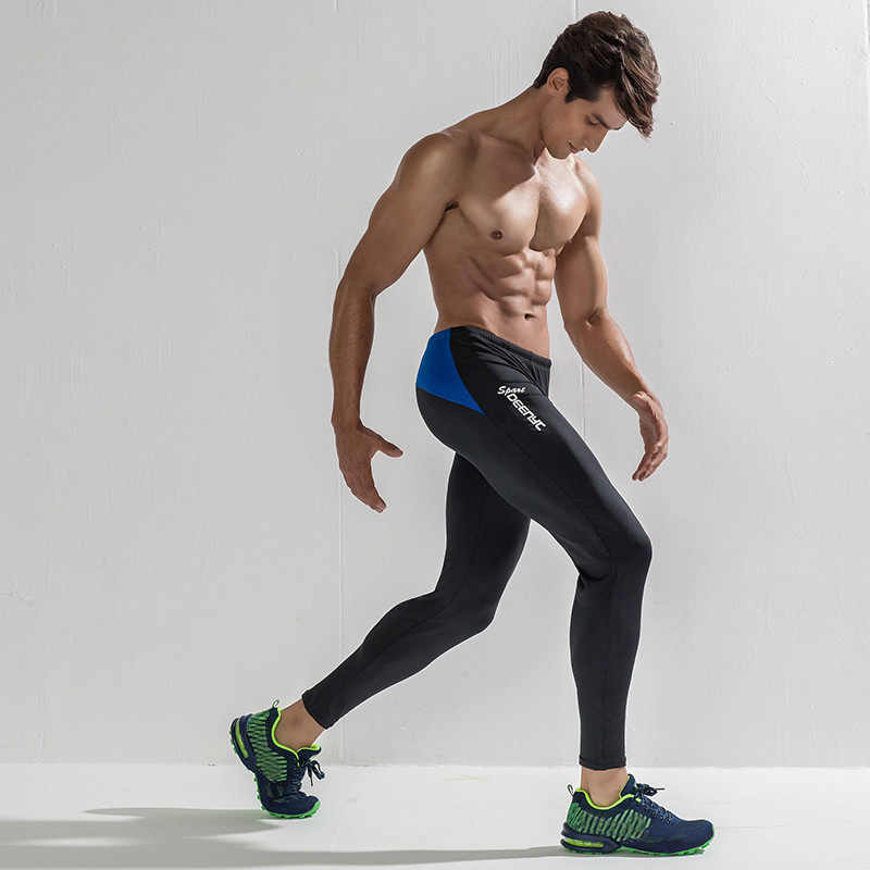 Mens Sport Running Compression Pants Tights Bottoms Fitness Gym Training Trouser