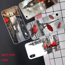 Silicone Phone Case Eiffel Tower London city Printing for iPhone XS XR Max X 8 7 6 6S Plus 5 5S SE Matte Cover