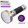 AloneFire 18 Вт 100Led Высокая мощность УФ-вспышка светильник фонарь 395nm Ультрафиолетовый скорпионы ПЭТ обнаружение утечки мочи светодиодный светильник AA батарея - фото