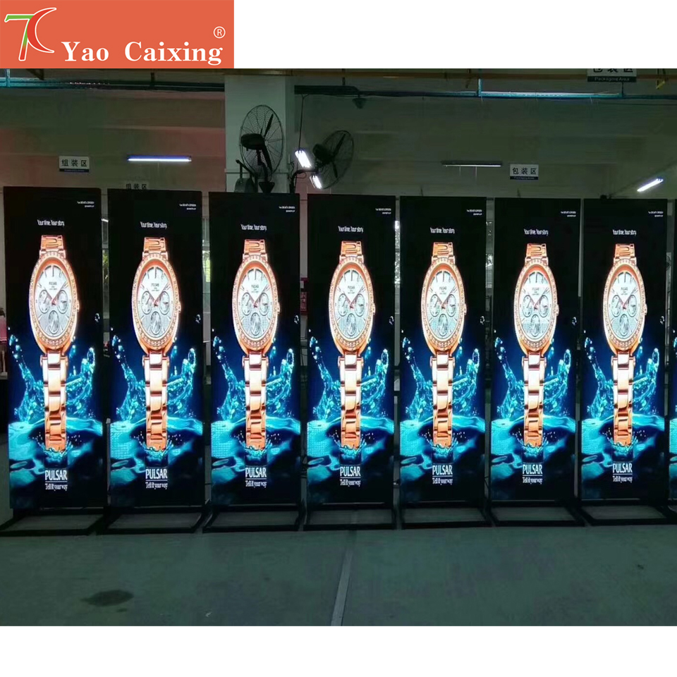 SMD P2 P2.5 P3 Indoor Full Color Led Poster Floor Stand Advertising Machine Dot Matrix High Resolution Digital Tv Display Screen