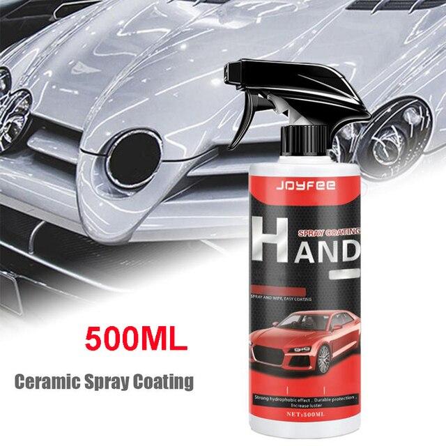 Revêtement de pulvérisation en céramique de voiture, mastic de pulvérisation de polissage couche de finition nano revêtement rapide 500ML revêtement en céramique sans eau lavage brillant protéger