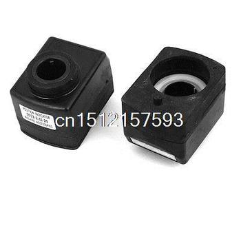 2 Pcs Black Plastic Housing Mechanical Digital Counter Position Indicators