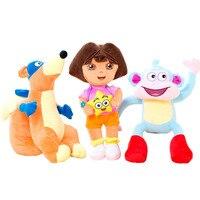 3 sztuk/zestaw 25 cm Prawdziwa miłość przygoda Dora, małpa Buty, Swiper lalki Pluszowe Zwierzęta dzień Dziecka prezent