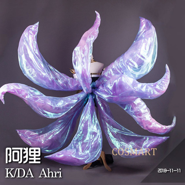 [Jan. Stock] 2018 Game LOL KDA Ahri Cosplay Costume PU Leather Uniform K/DA Ahri Cospaly Full Set With Ear For Halloween Free 4
