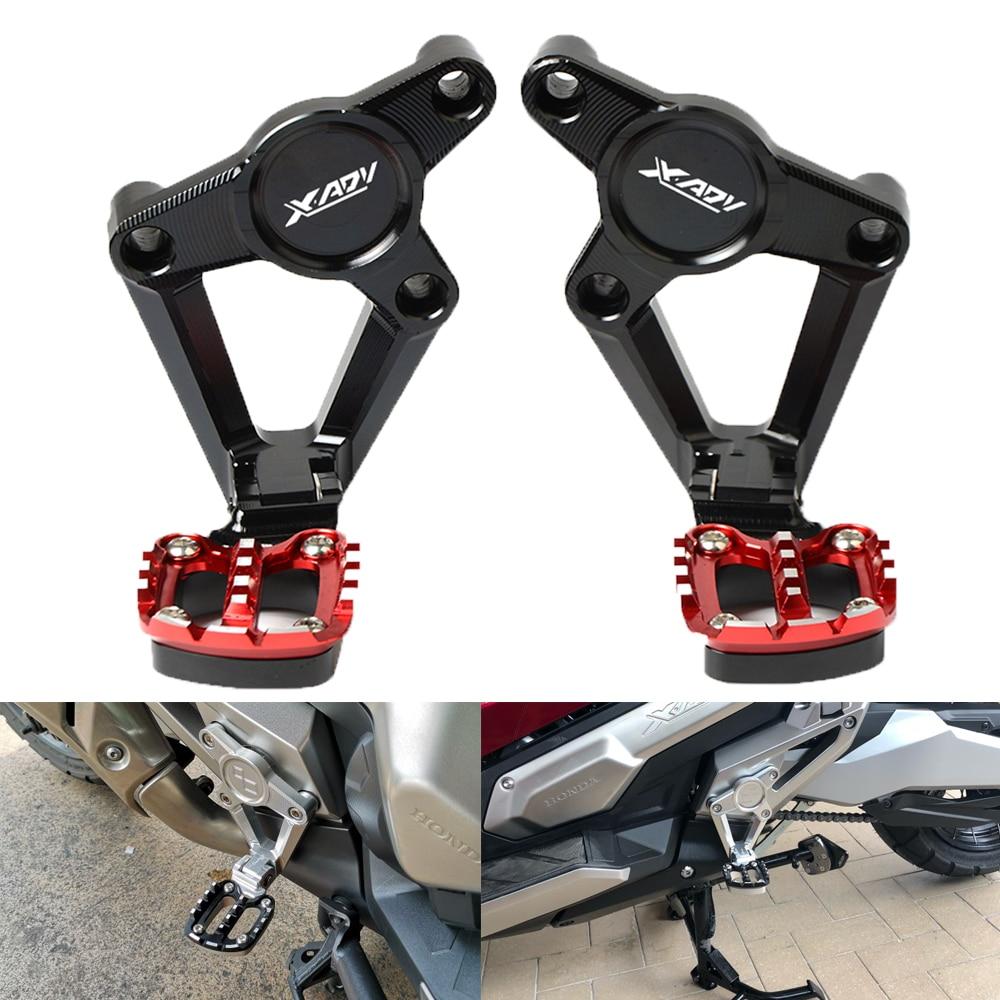 2018 new Motorcycle Accessories Folding Rear Foot Pegs Footrest Passenger Rear foot For HONDA X ADV XADV X-ADV 750 XADV750 2017 цены онлайн