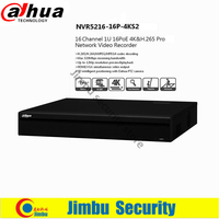 Dahua 16 채널 1U 16 PoE 포트 4 천개 비디오 레코더 H.265 프로 네트워크 NVR NVR5216-16P-4KS2 최대 12Mp 해상도 3D