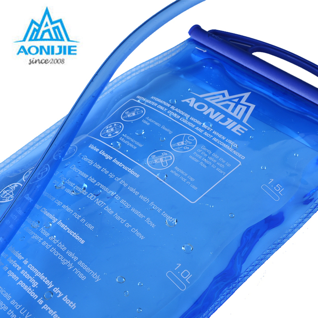 AONIJIE Water Bladder Soft Drinking Flask Hydration Bladder Hiking Travel Waterbag 1L 1.5L 2L 3L 1