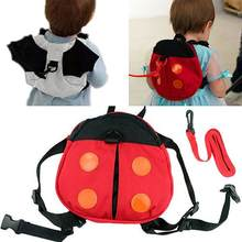 Fashion Kartun Ladybug Lucu Anak Bayi Balita Penjaga Walking Safety Harness Ransel Tali Tali Tas(China)