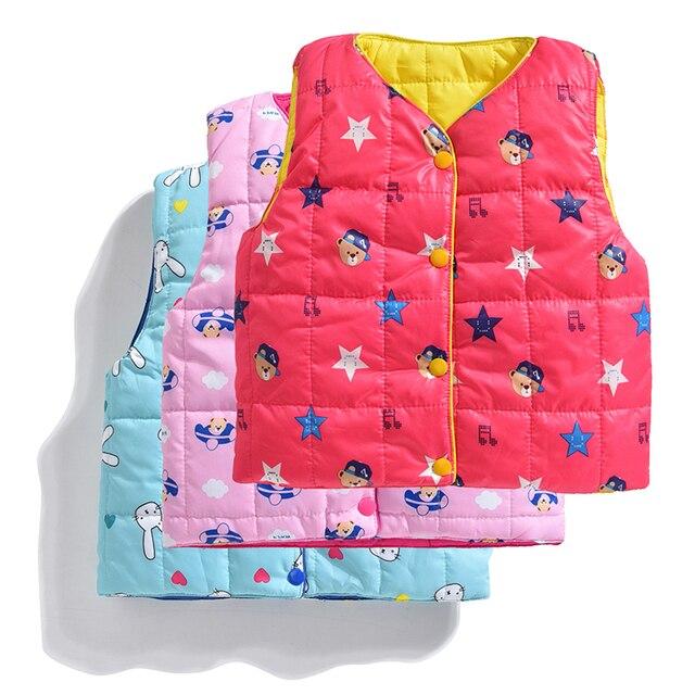 541daff76 Children Spring Vest For Boys Girls Cute Cartoon Cotton Vest ...