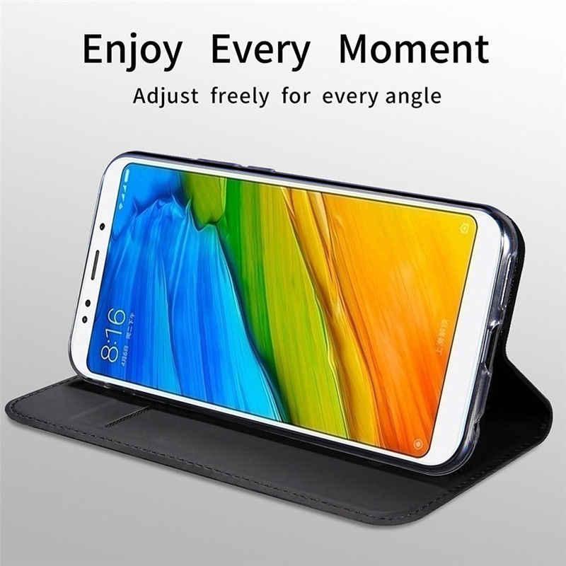 Từ Tính Sổ Da Lật Ốp Lưng Điện Thoại Xiaomi Mi 10 9T 9 A3 A2 Lite A1 Loại Thẻ cho Redmi Note 9 S 8 7 Pro 6A Plus 8T