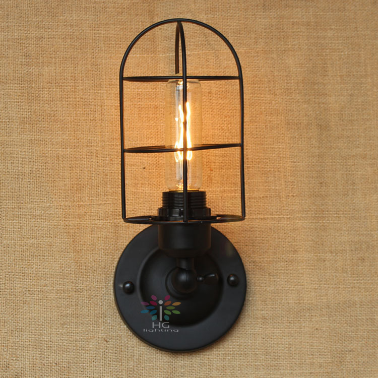 Wire american country cast iron loft black wall sconces wall light wire american country cast iron loft black wall sconces wall light coffee lighting vintage wall lamp wall fixture in wall lamps from lights lighting on aloadofball Images