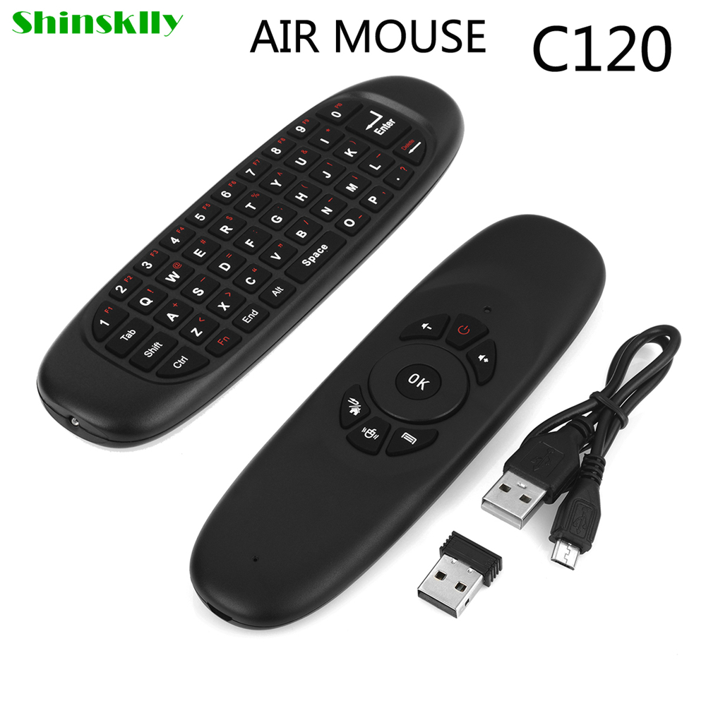 Shinsklly C120 Fly <font><b>Air</b></font> <font><b>Mouse</b></font> Wireless TV BOX Keyboard 2.4G Rechargeable Remote Controller 360 degree Control Android/TV/Tablet
