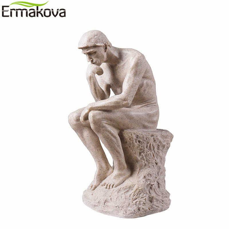 Ermakova Arte Astratta Pensatore Statua Pensando a Te Figurine Naturale Arenaria Mestiere Scultura Moderna Home Office Decorazione