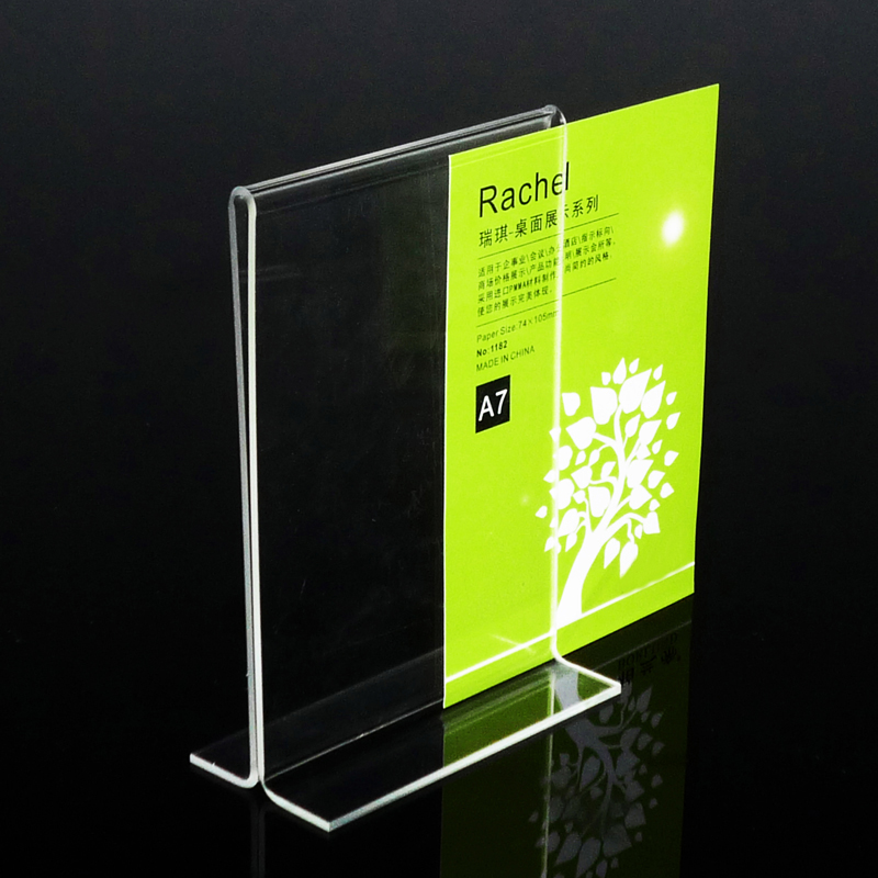 Pack Units T Insert Clear Acrylic Tabletop Sign Holders For Hotel - Restaurant table top sign holders