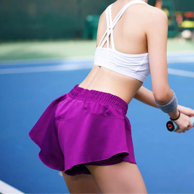 Kobiety tenis Skorts oddychające Sport Skorts pani Patchwork Sport spódnica kobiety Badminton tenis spodenki do biegania szkolenia Skorts