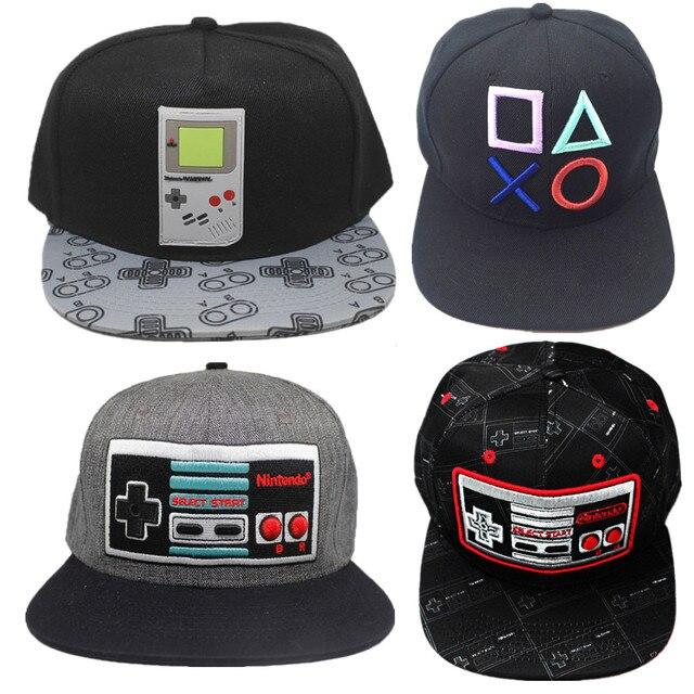 buy popular 13b88 7d5cd Game Playstation Baseball Cap Baseball Trucker hat Controller cotton Cap  Adjustable Hip Hop Hat embroidery cap christmas gift