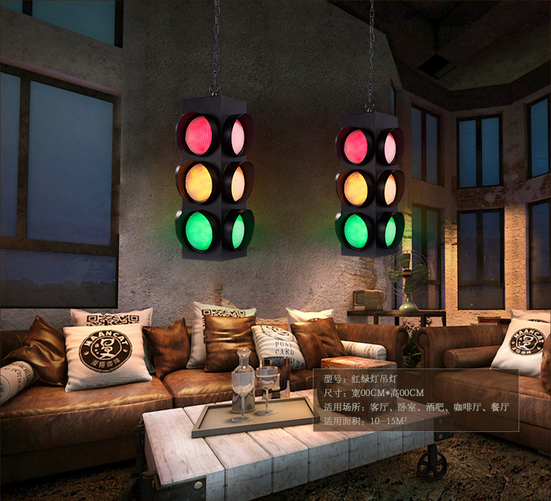 loft air antique bars traffic lights signal LED glass pendant light bar hanging lighting
