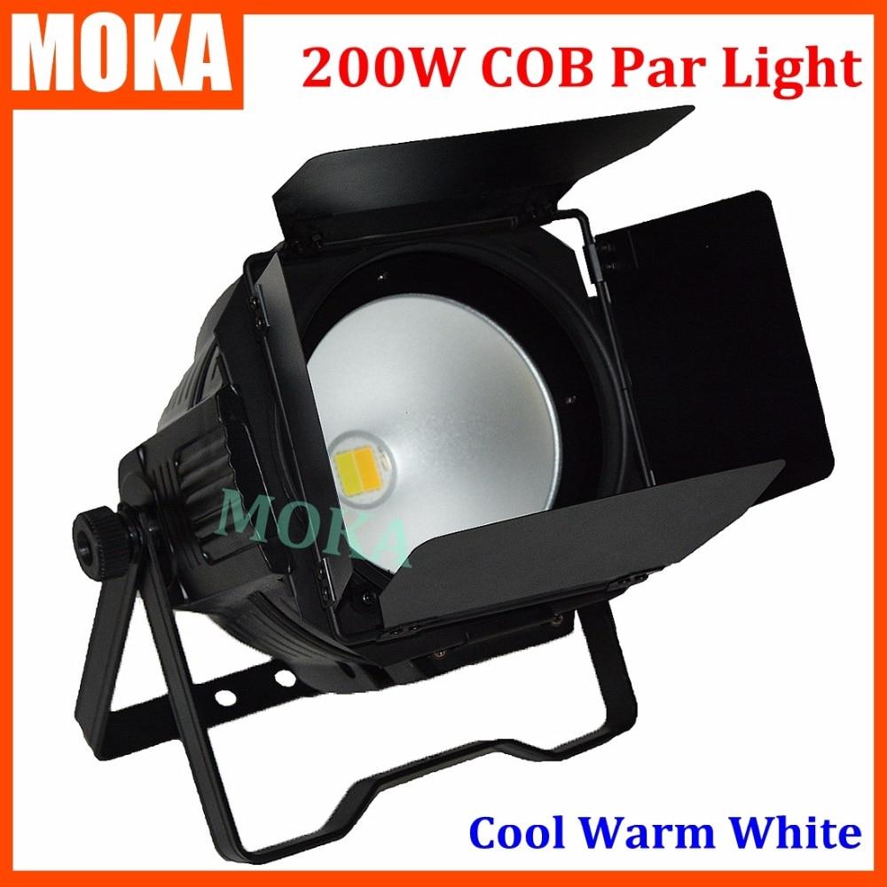 1pcs/lot 200w COB LED par light with shutter Warm White Or Cool White LED PAR stage Lighting for Theater TV Stage Studio