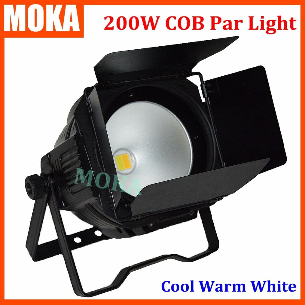 1pcs/lot 200w COB LED par light with shutter Warm White Or Cool White LED PAR stage Lighting for Theater TV Stage Studio cree cxa3050 cxa 3050 100w ceramic cob led array light easywhite 4000k 5000k warm white 2700k 3000k with without holder